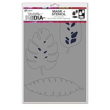 Dina Wakley TROPICAL Media Mask And Stencil mds74595