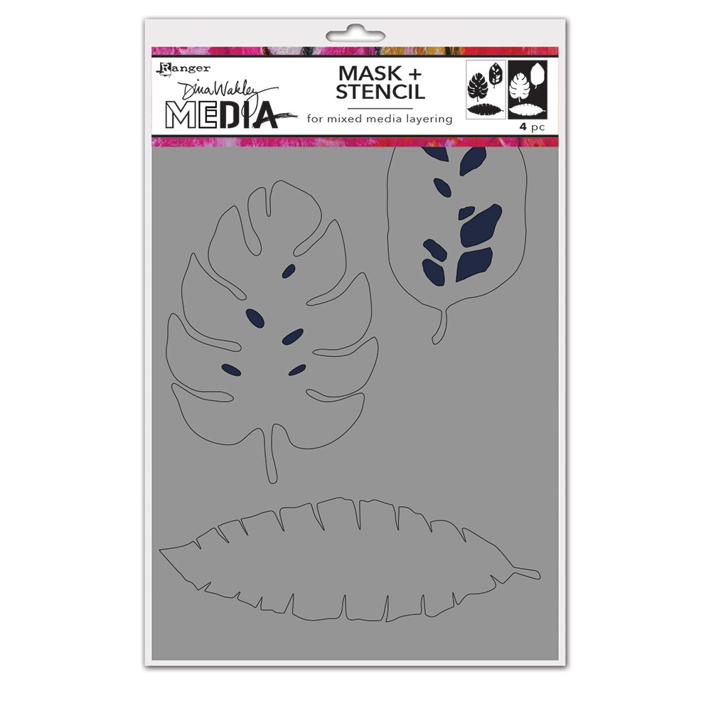 Dina Wakley TROPICAL Media Mask And Stencil mds74595 zoom image