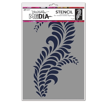 Dina Wakley GIANT FLOURISH Media Stencil mds74564