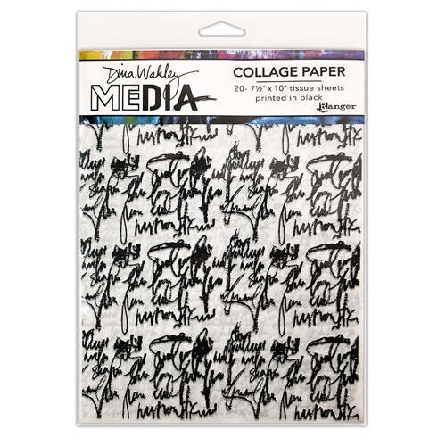 Dina Wakley Ranger JUST WORDS Collage Paper Media mda74618 Preview Image