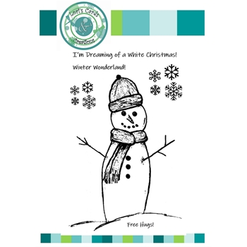 Emerald Creek TALL SNOWMAN Clear Stamps lccts9524