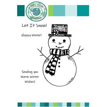 Emerald Creek TOP HAT SNOWMAN Clear Stamps lccts517