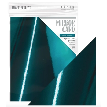 Tonic TURKISH TURQUOISE Mirror Card Gloss Cardstock 8731e