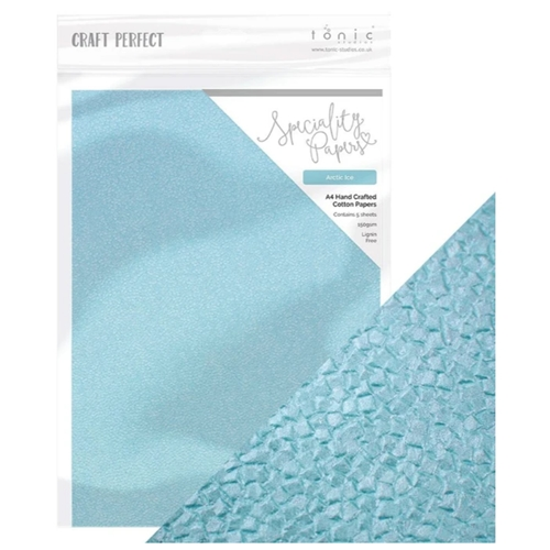 Tonic ARCTIC ICE Hand Crafted Embossed Cotton A4 Paper Pack 9889e Preview Image