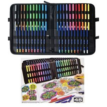 Royal and Langnickel ADULT COLORING ART SET 45 Pieces 10014286*