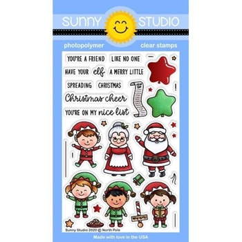 Sunny Studio NORTH POLE Clear Stamps SSCL 279*