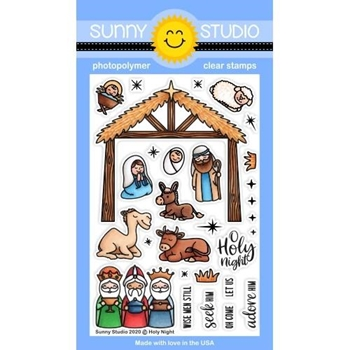 Sunny Studio HOLY NIGHT Clear Stamps SSCL-275