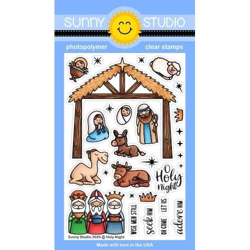Sunny Studio HOLY NIGHT Clear Stamps SSCL-275 zoom image