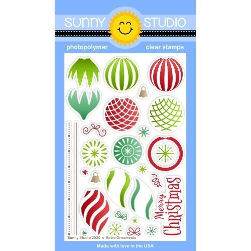Sunny Studio RETRO ORNAMENTS Clear Stamps SSCL-282 zoom image