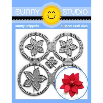 Sunny Studio WINDOW QUAD CIRCLE Snippets Dies SSDIE-206