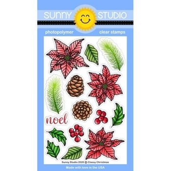 Sunny Studio CLASSY CHRISTMAS Clear Stamps SSCL-281