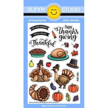 Sunny Studio BOUNTIFUL AUTUMN Clear Stamps SSCL-278