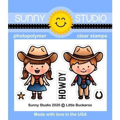 Sunny Studio LITTLE BUCKAROO Clear Stamps SSCL-262 zoom image