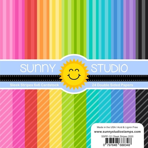 Sunny Studio SLEEK STRIPES Paper Pad SSPP-121 Preview Image