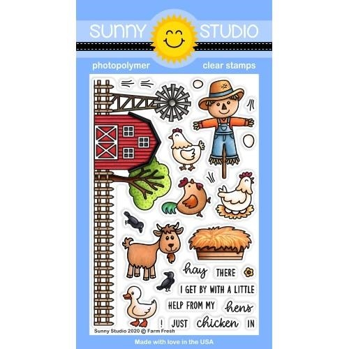Sunny Studio FARM FRESH Clear Stamps SSCL-274 Preview Image