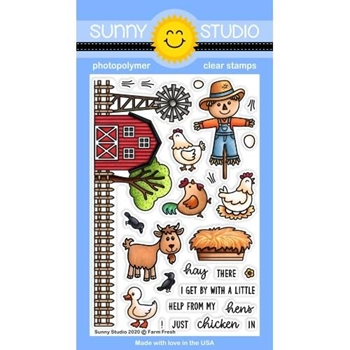 Sunny Studio FARM FRESH Clear Stamps SSCL-274
