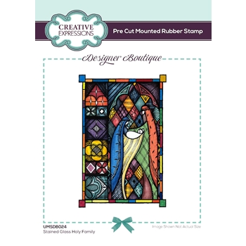 Creative Expressions STAINED GLASS HOLY FAMILY Cling Stamps umsdb024