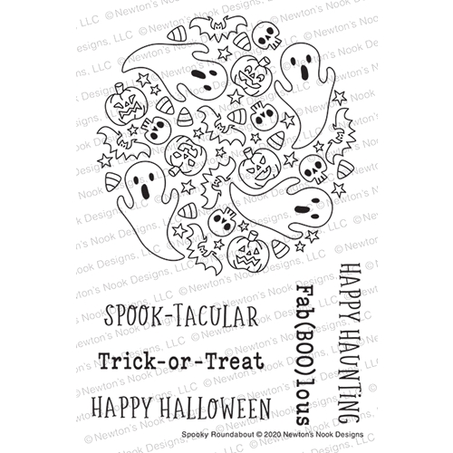Newton's Nook Designs SPOOKY ROUNDABOUT Clear Stamps NN2008S07 Preview Image