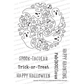 Newton's Nook Designs SPOOKY ROUNDABOUT Clear Stamps NN2008S07