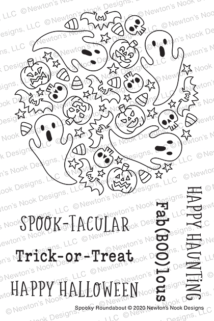 Newton's Nook Designs SPOOKY ROUNDABOUT Clear Stamps NN2008S07 zoom image
