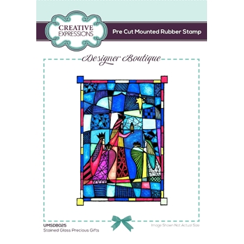 Creative Expressions STAINED GLASS PRECIOUS GIFTS Cling Stamps umsdb025