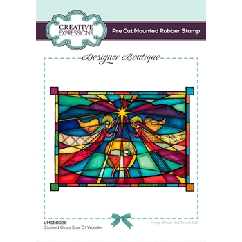 Creative Expressions STAINED GLASS STAR OF WONDER Cling Stamps umsdb026