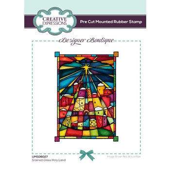 Creative Expressions STAINED GLASS HOLY LAND Cling Stamps umsdb027