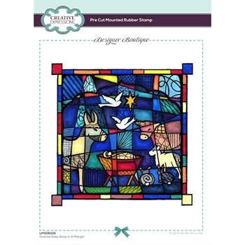 Creative Expressions STAINED GLASS AWAY IN A MANGER Cling Stamps umsdb028