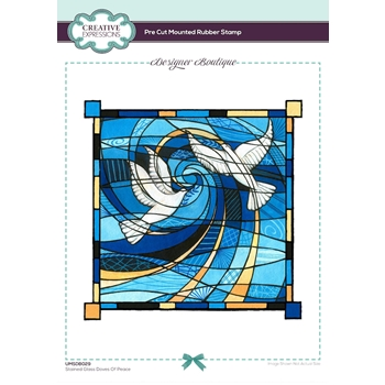 Creative Expressions STAINED GLASS DOVES OF PEACE Cling Stamps umsdb029