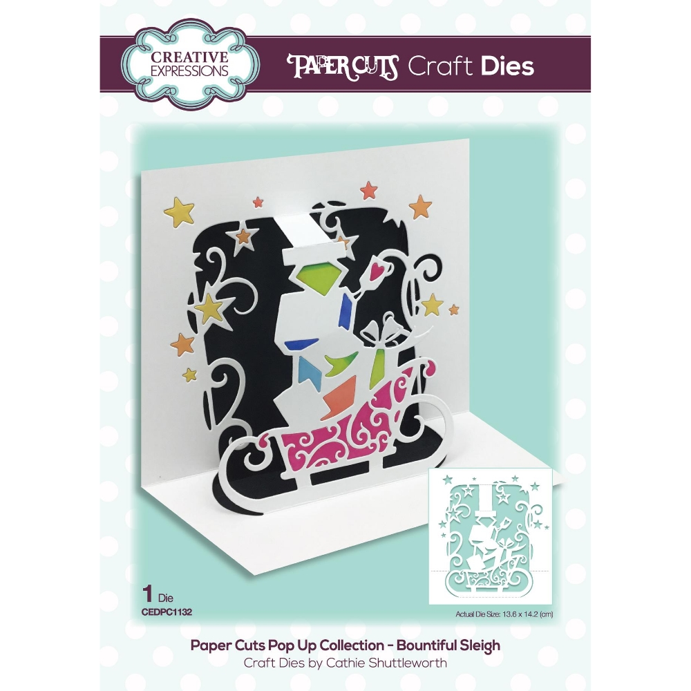 Creative Expressions SANTA EXPRESS Paper Cuts Pop Up Die cedpc1132 zoom image