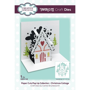 Creative Expressions CHRISTMAS COTTAGE Craft Paper Cuts Pop Up Die cedpc1129