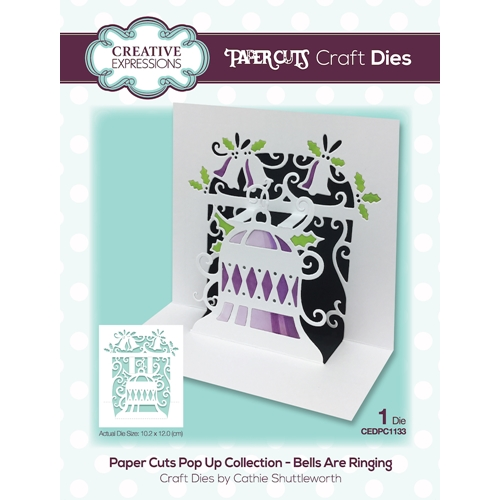 Creative Expressions BELLS ARE RINGING Craft Die Paper Cuts Pop Up Die cedpc1133 Preview Image