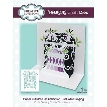 Creative Expressions BELLS ARE RINGING Craft Die Paper Cuts Pop Up Die cedpc1133