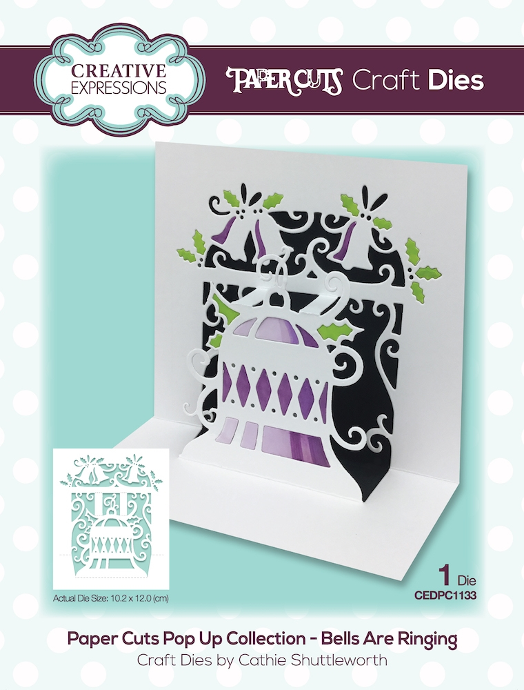 Creative Expressions BELLS ARE RINGING Craft Die Paper Cuts Pop Up Die cedpc1133 zoom image