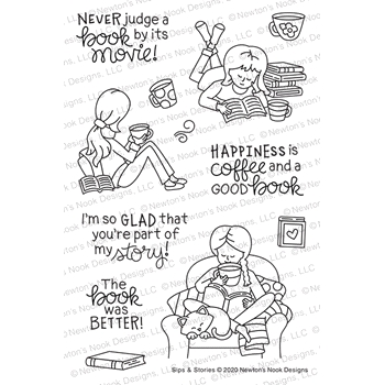 Newton's Nook Designs SIPS AND STORES Clear Stamps NN2008S01