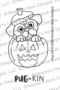 Newton's Nook Designs PUG KIN Clear Stamps NN2008S05 zoom image