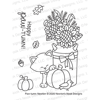 Newton's Nook Designs PAW TUMN NEWTON Clear Stamps NN2008S02