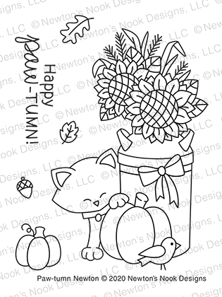Newton's Nook Designs PAW TUMN NEWTON Clear Stamps NN2008S02 zoom image