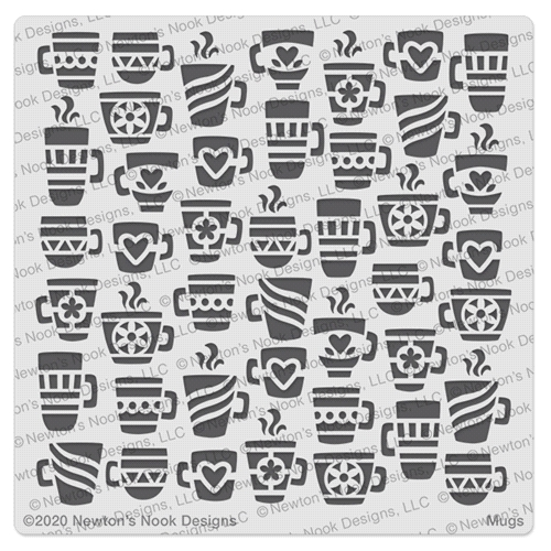Newton's Nook Designs MUGS Stencil NN2008T03 Preview Image