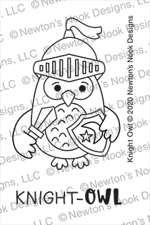 Newton's Nook Designs KNIGHT OWL Clear Stamps NN2008S04 zoom image