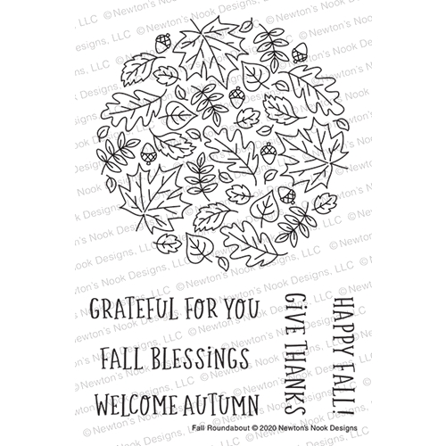 Newton's Nook Designs FALL ROUNDABOUT Clear Stamps NN2008S06 Preview Image