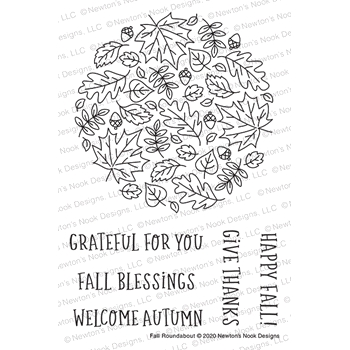 Newton's Nook Designs FALL ROUNDABOUT Clear Stamps NN2008S06