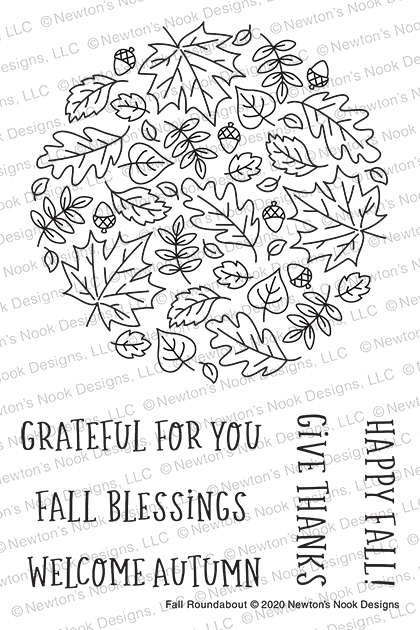 Newton's Nook Designs FALL ROUNDABOUT Clear Stamps NN2008S06 zoom image