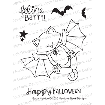 Newton's Nook Designs BATTY NEWTON Clear Stamps NN2008S03