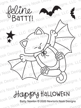 Newton's Nook Designs BATTY NEWTON Clear Stamps NN2008S03 zoom image