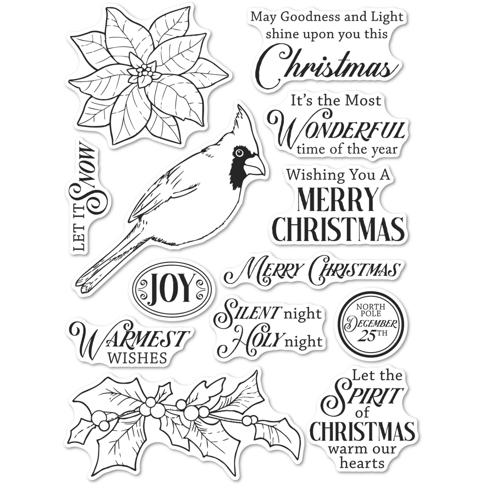 Memory Box Clear Stamps SPIRIT OF CHRISTMAS Open Studio cl5261 zoom image