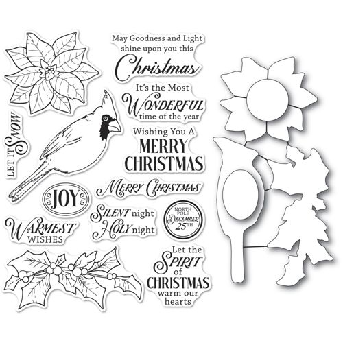 Memory Box SPIRIT OF CHRISTMAS Open Studio Clear stamp and Die Set cl5261d Preview Image