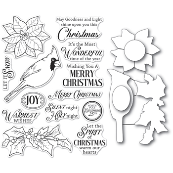 Memory Box SPIRIT OF CHRISTMAS Open Studio Clear stamp and Die Set cl5261d