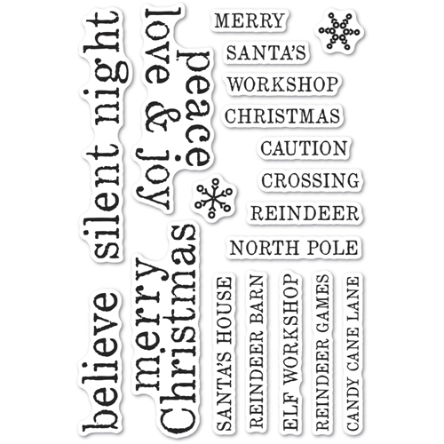 Memory Box Clear Stamps CHRISTMAS TILES Open Studio cl5263 Preview Image