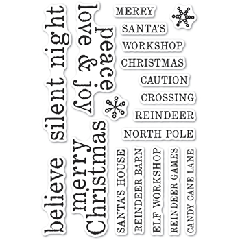 Memory Box Clear Stamps CHRISTMAS TILES Open Studio cl5263